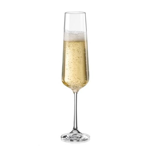 6 copa champagne de 200 ml marca bohemia cristal 113 for Copas para champagne