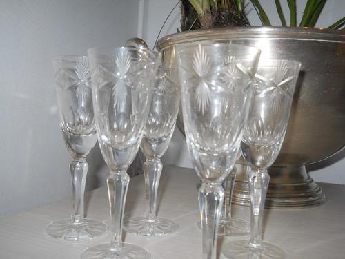 6 copas antiguas talladas