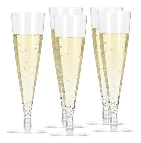 6 copas champagne plastico matrimonio fiestaclub
