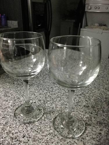6 copas de vidrio cristal para vino