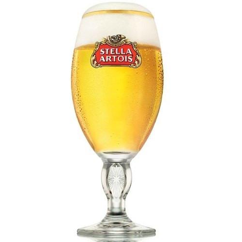 6 copas para tomar cerveza + daga + destapador stella artois