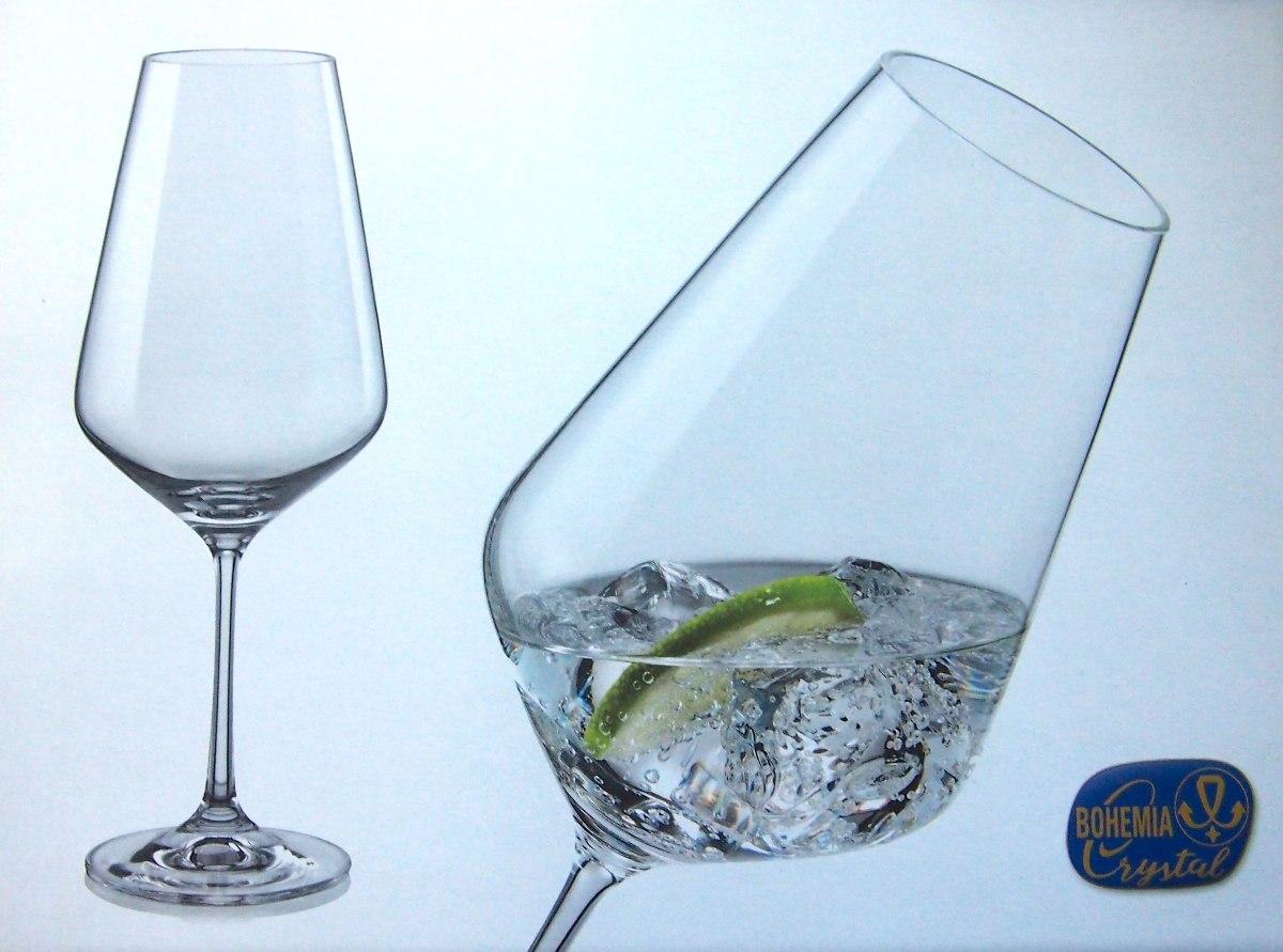 6 copas para vino o agua de 550 ml marca bohemia cristal for Copas bohemia