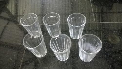6 copos antigos pequenos para água ou suco