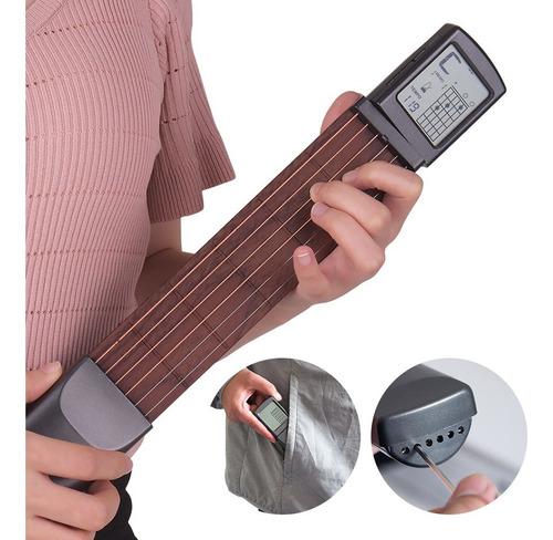6 corda bolso guitarra chord treinador povo guitarra prática