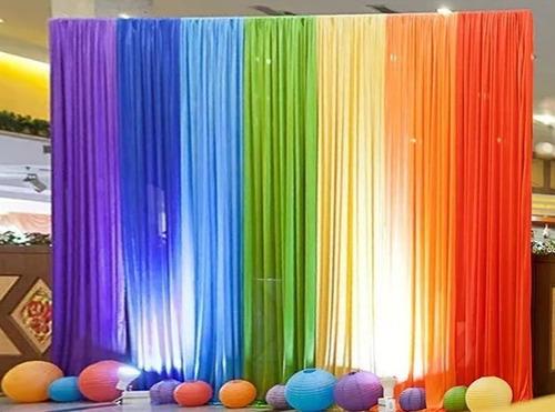 6 cortinas voil 2,30 (a) x3,00 (l) decoração festas eventos