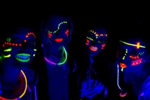 6 crayones maquillaje neon pintura fluorescente halloween