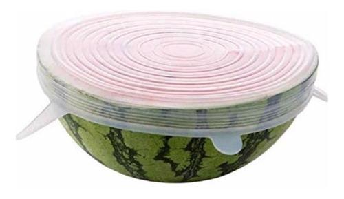 6 cubiertas tapa de silicon reutilizables antiderrame