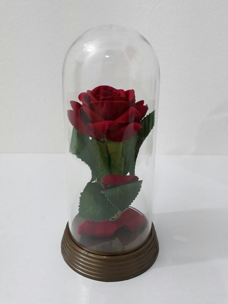 6 Cúpulas Da Bela E A Fera Redoma Com Rosa Vermelha R 17940 Em