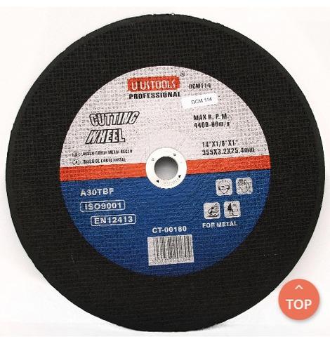 6 discos corte metal recto 355