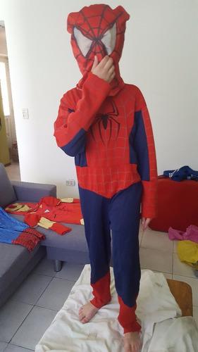 6 disfraces spiderman ironman ben 10 usados niño 5 a 8