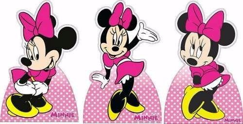 6 disney baby + 3 minnie rosa decoração de festa infantil