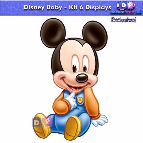 6 disney baby mickey minnie display mesa decoração promoção