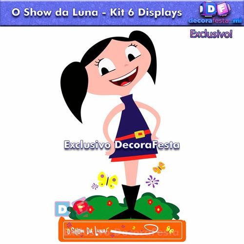 6 display centro mesa show da luna mdf infantil decorafesta