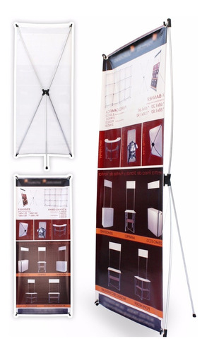6 display porta banner 180x80 en  de aluminio