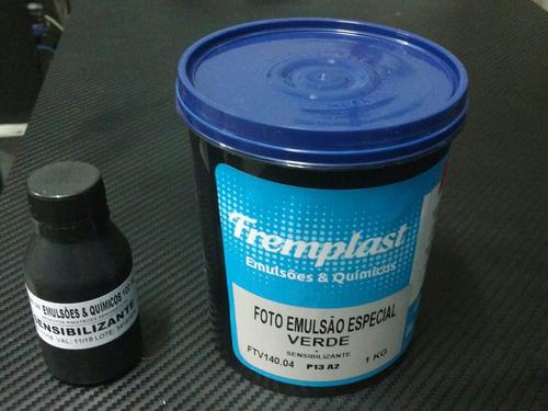 6 emulsão verde base de água freemplast + 6 sensibilizante
