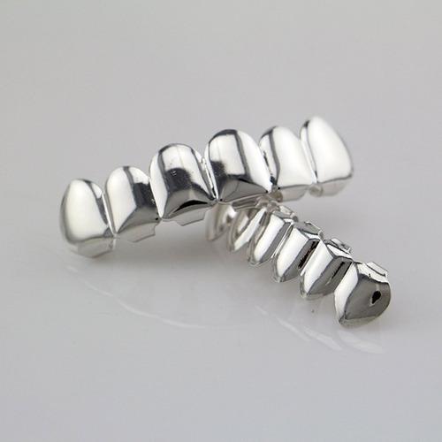 6 enchapado brillante dientes grillz electroplate cobre cade