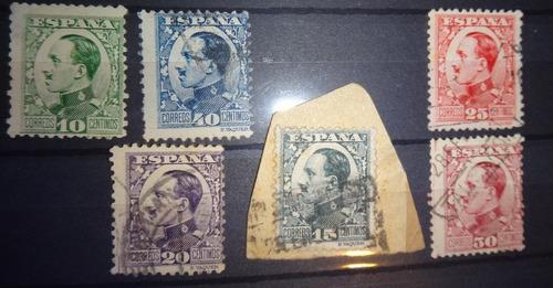 6 estampillas alfonso xiii 1930 antiguas españa