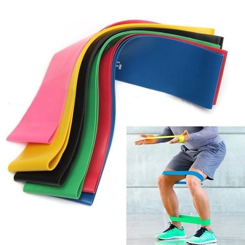 6 faixa elástica mini-band pilates yoga academia liquidação