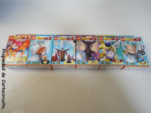 6 figuras armables de dragon ball super (lego - jlb).