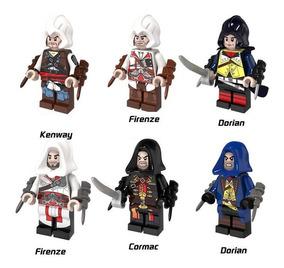 6 minifiguras Assasins Creed minifigura compatible  con marca original