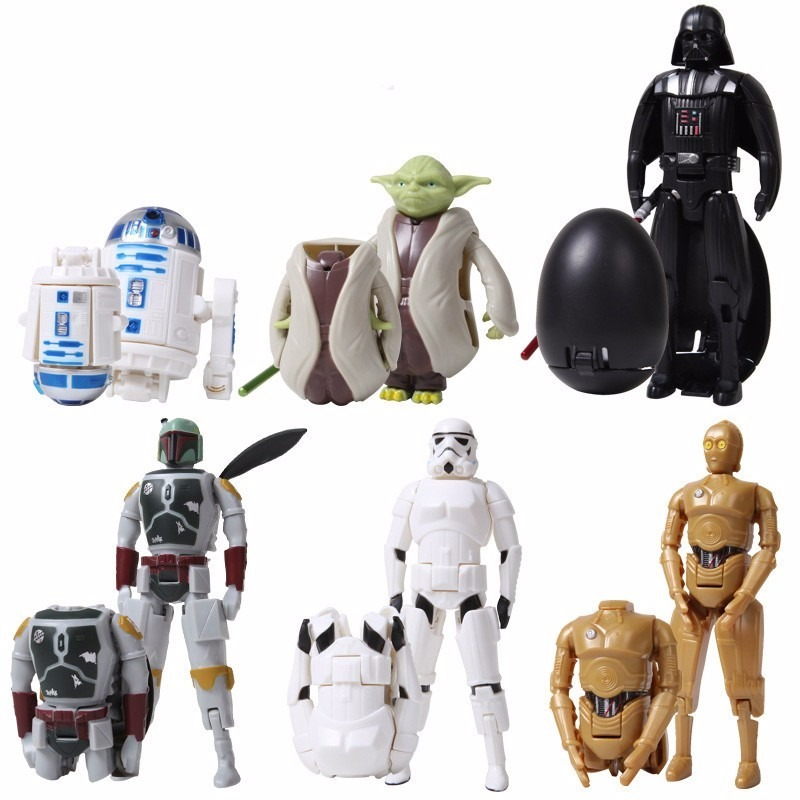 6 figuras de star wars robots transformables juguetes en mercado libre - Robot blanc star wars ...