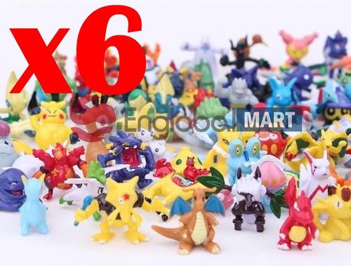 6 figuras muñecos pokemon aleatorios + pikachu legendarios