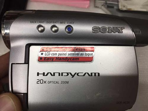 6 filmadoras sony,samsung defeito hc26,36,dvd108,408,scd371