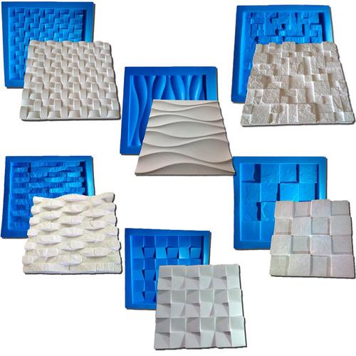 6 formas de plástico c/ borracha gesso 3d  es digitalartrio