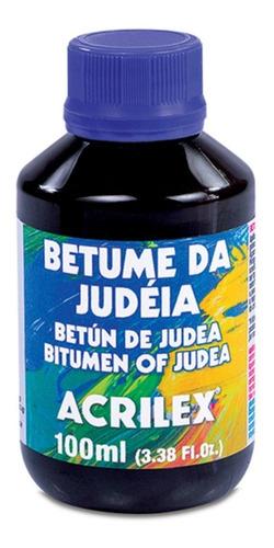 6 frascos betume da judeia acrilex 100ml
