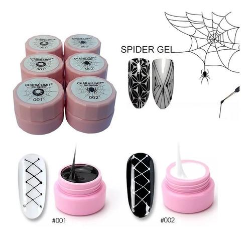 6 geles uv deco gel liner spider decoración de uñas deco nai