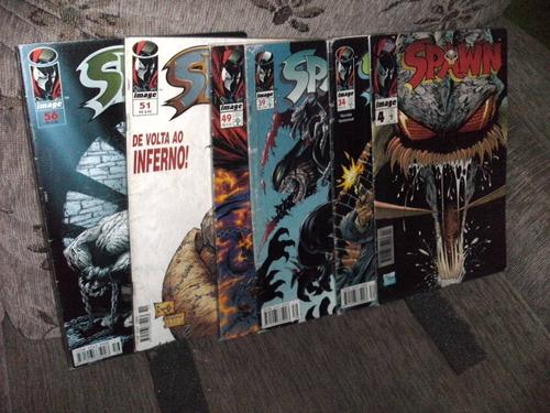 6 gibis revistas spawn nº 4-34-39-49-51-56-hqs ótimos
