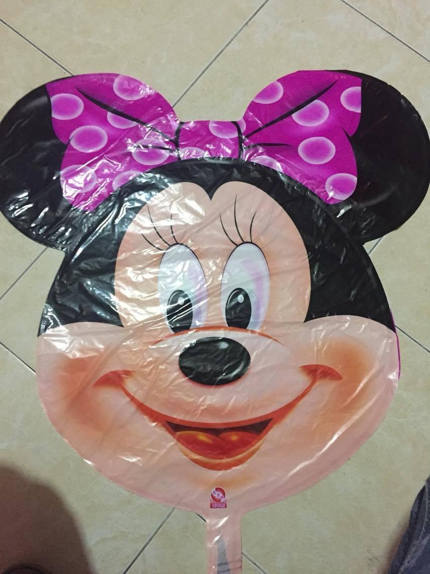 6 Globos Cabeza De Mickey Y Minnie Mouse De 70x65cm Decora