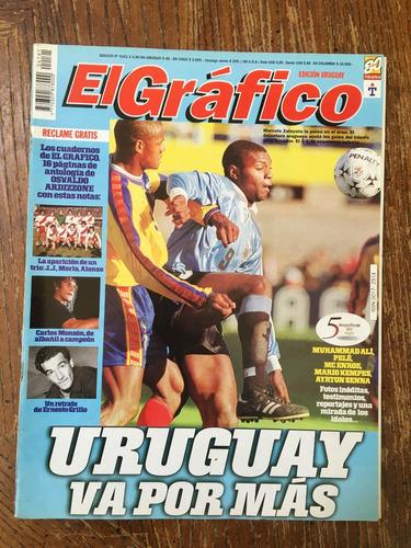6 gráficos, tapa y notas uruguay, tabarez, lote