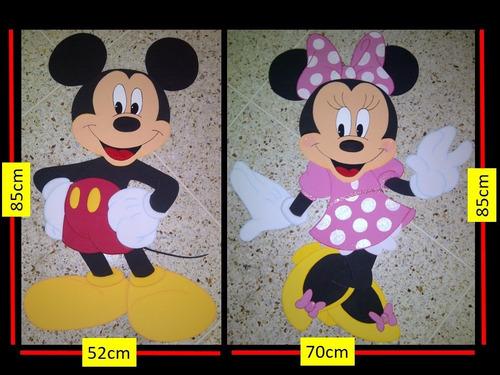 6 imágenes grandes mickey, minnie (club disney) en foami