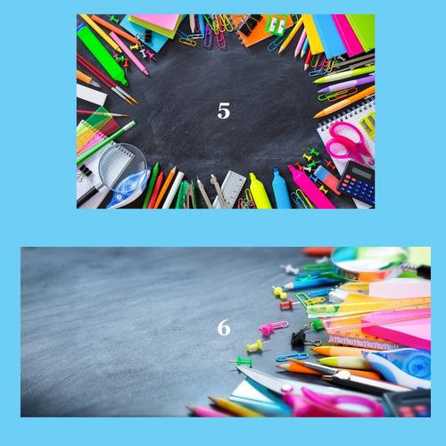 6 imágenes marcos de útiles escolares - jpg alta calidad