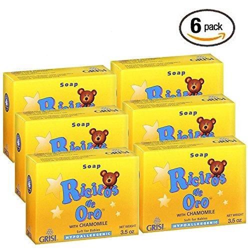 6 jabón para bebés grisi manzanilla hipoalergénico 3,5 oz