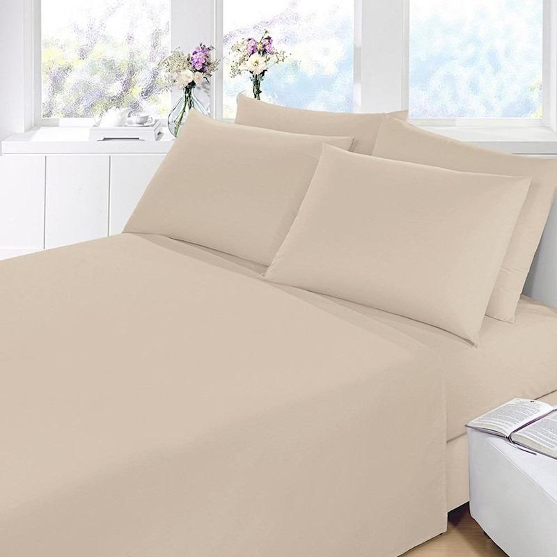5adf98528d 6 jogo lençol casal queen cama box 4 peças 40 cm altura liso. Carregando  zoom.