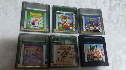 6 juegos de gameboy originales