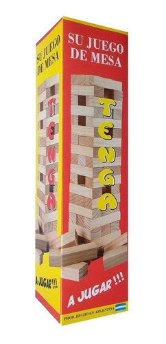 6 juegos de mesa jenga 54 pzs yenga tenga torre diverti toys