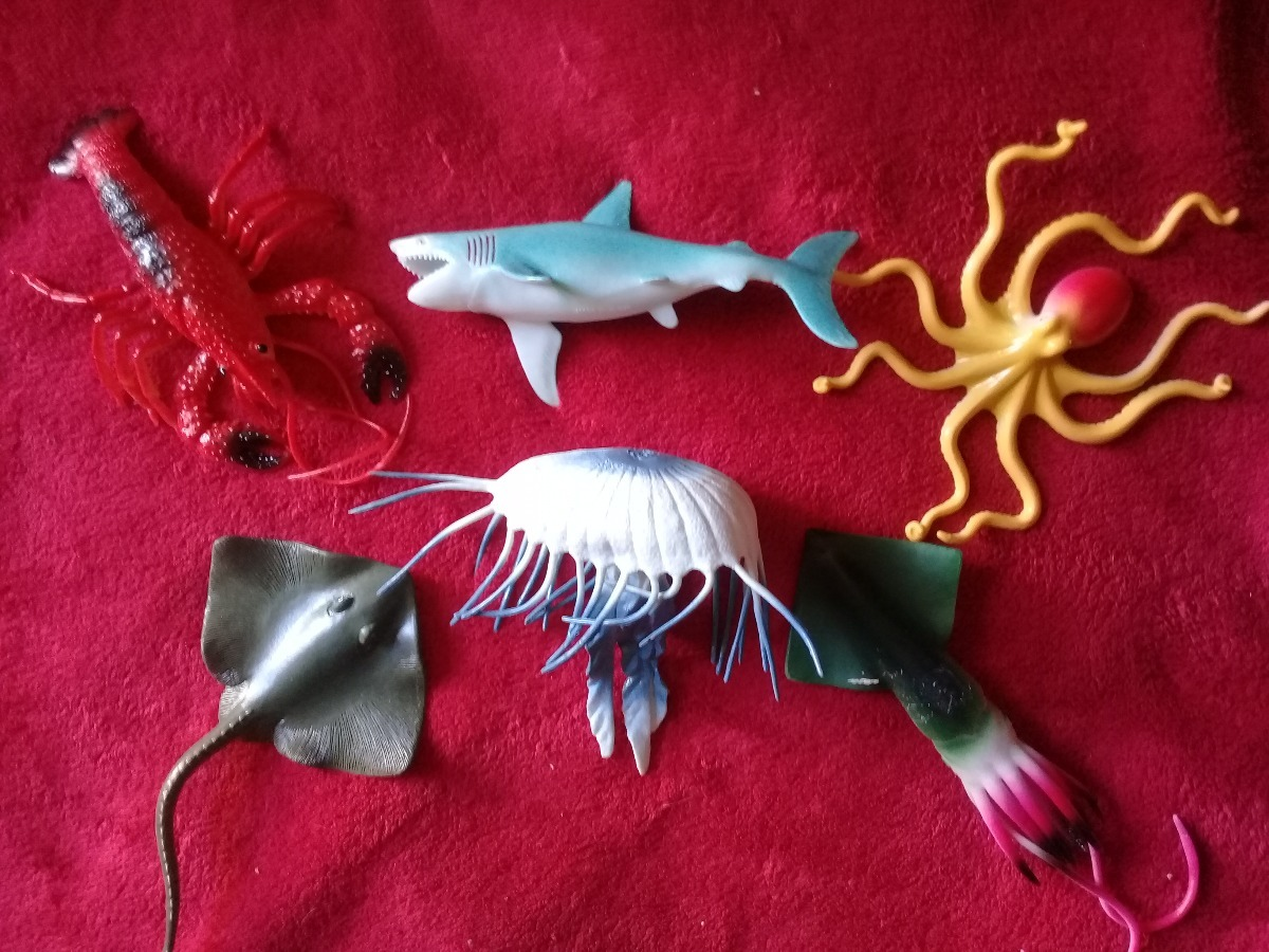 Juguete Langosta Raya 6 Calamar Goma Pulpo Medusa Tiburon 0wXOP8nkN