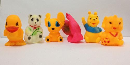 6 juguetes de hule
