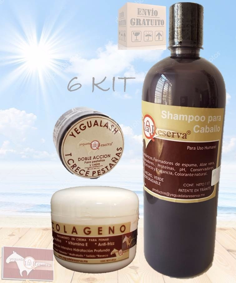 6 Kit Yegualash Colagen Chico Y Shampoo Yeguada La Reserva ...