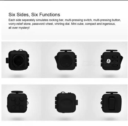 6 lados juguete del dedo cubo dado/ cubo para inquietos