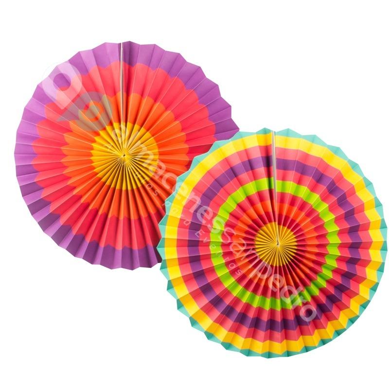 6 lamparas de abanico de colores de 40 30 y 20cms de for Abanico de colores