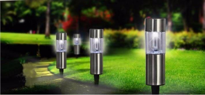 6 lamparas para jardin solares en mercado libre - Lampara solares para jardin ...