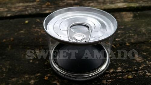 .6 lata latinha bolo enlatado 100ml atum prata lembrancinha