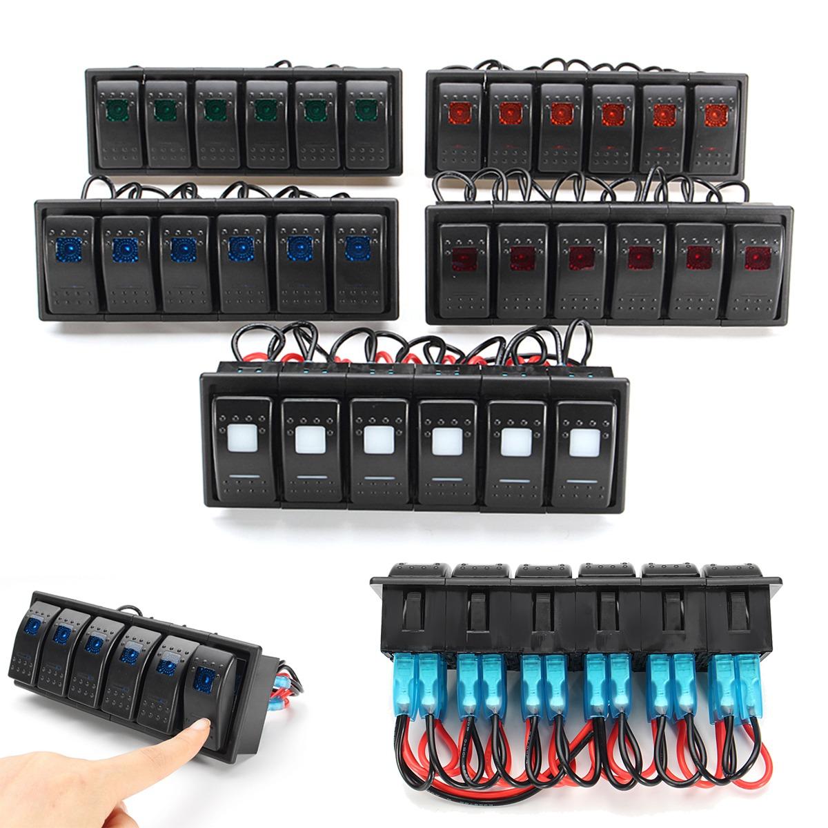 Interruptor de presión-interruptor activado//desactivado 12v LED verde