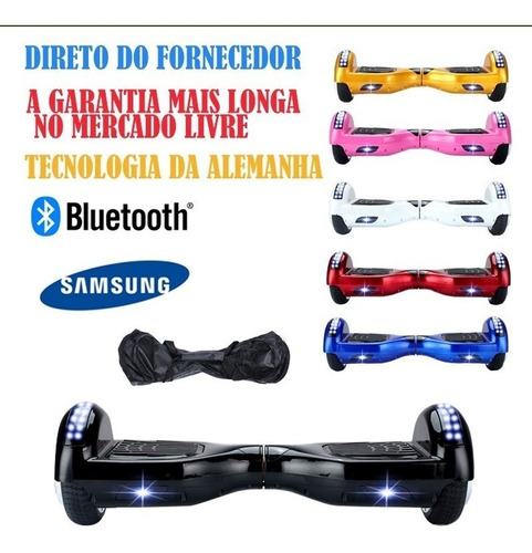 6 led hoverboard  skate electrico bluetooth samsung nota f
