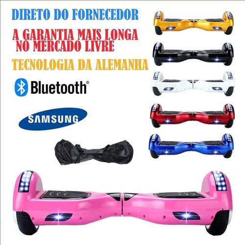 6 led hoverboard skate electrico overboard bluetooth samsung