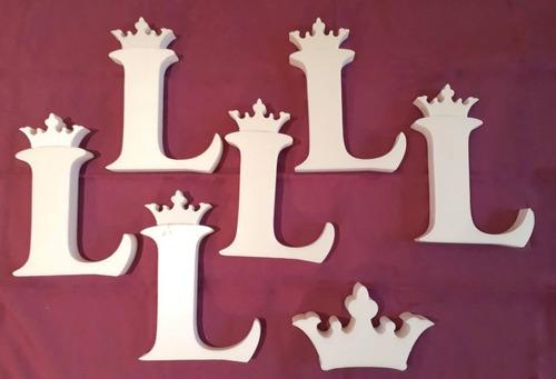 6 letras listas 15 cm tipografia cooper black  polyfan